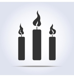 Candles icon vector
