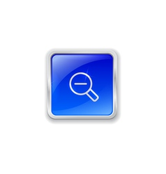 Zoom out icon on blue button vector