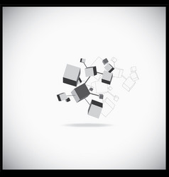 3d cubes connection vector