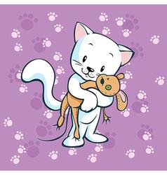 Cute kitty vector