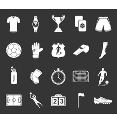 Set of icons or symbols of football vector