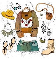 Fashion clothing set vector