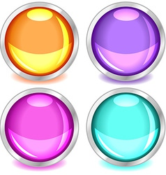 Colorful glossy buttons-set2 vector
