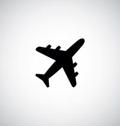 Airplane sign logo icon vector