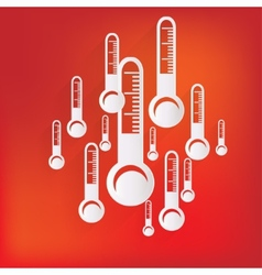 Thermometer web icon vector