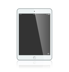 Black business ipad isolated on white background vector