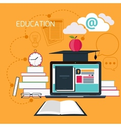 Online education professional education vector