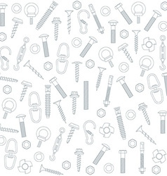 Seamless nuts and bolts vector