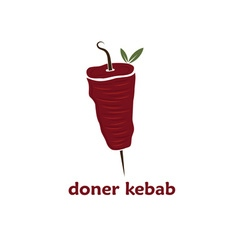 Doner kebab with leaves vector