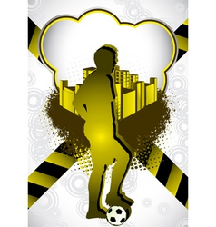 Soccer summer background vector