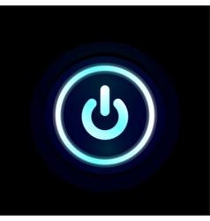 Blue led power button design vector