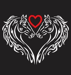 Love of horse on a white background vector