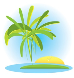 Tropical landscape vector