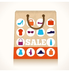 Shopping clothing bag design vector