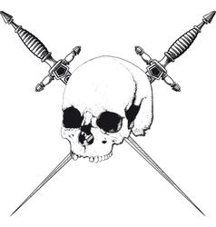 Skull and dagger vector