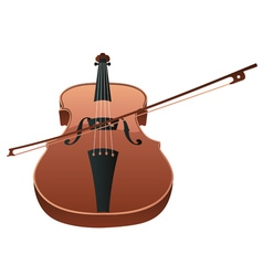 Violin with bow vector
