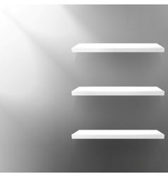 Detailed of shelves on black vector