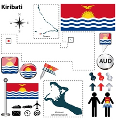 Kiribati map vector