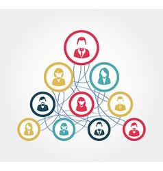 Social network diagram vector