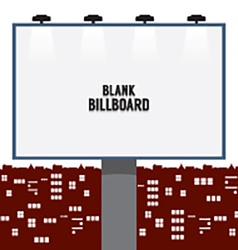 Blank advertising billboard in the city vector
