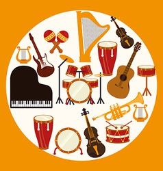 Music design over yellow background vector