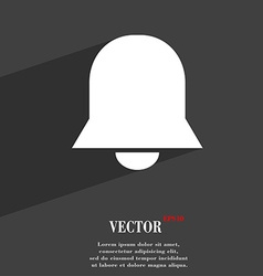 Alarm bell icon symbol flat modern web design with vector