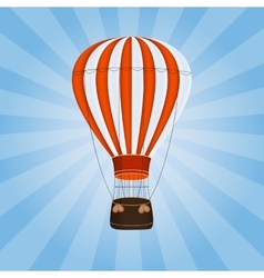 Air balloon background vector