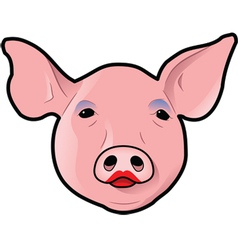 Pig with lipstick vector