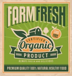 Retro farm fresh food concept vector