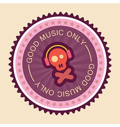 Good music label vector
