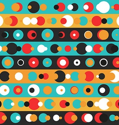 Retro circle seamless pattern vector