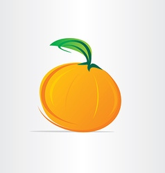Orange fruit juice design vector