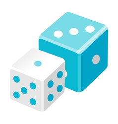 Icon dice vector