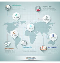 3d world map and infographics vector