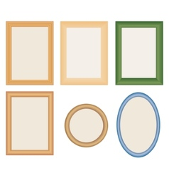Many different photo frames vector