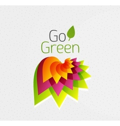 Abstract flower design go green concept vector