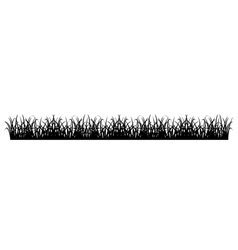 Simple grass silhouette vector