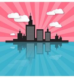 Evening - morning city scape vector