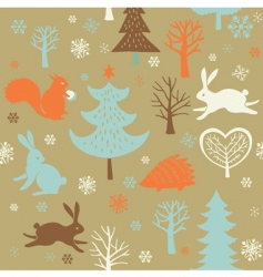 Christmas forest background vector