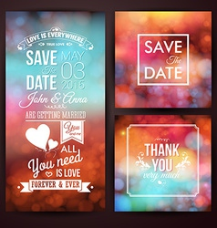 Save the date for personal holiday and thank you vector