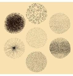 Grunge halftone hand drawn textures set vector
