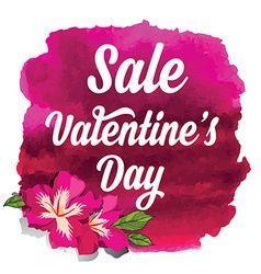 Valentines day saletypography vector