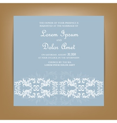 Wedding invitation card with floral ornament vector