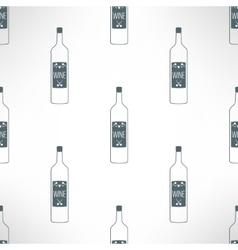 Wine bottles seamless pattern in modern vector