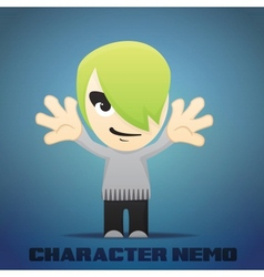 Cartoon character nemo vector