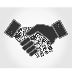 Business hand shake vector