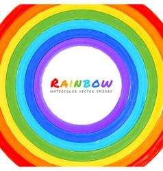 Rainbow watercolor circle vector