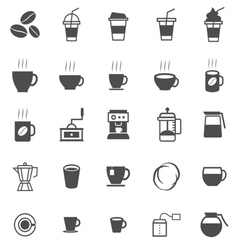Coffee icons on white background vector
