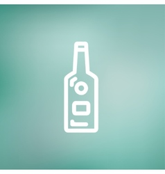 Bottle of whisky thin line icon vector