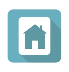 Square house sign icon vector